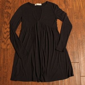 THE IMPECCABLE PIG BLACK RIBBED SHIRT DRESS